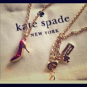 Kate Spade Red High Heel Necklace
